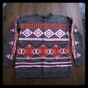 J. Crew Abstract Fair Isle Sweater